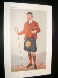 Vanity Fair Print 1908 Peter Jeffrey Mackie, Scotsman
